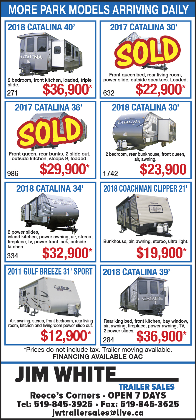 Weekly Sarnia Journal Ad Jim White Trailer Sales